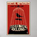Propaganda de la oficina: Red social Póster