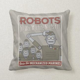 Propaganda de los militares del robot del estilo cojines