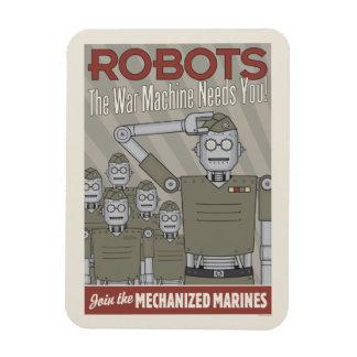 Propaganda de los militares del robot del estilo imán