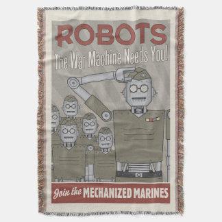 Propaganda de los militares del robot del estilo manta