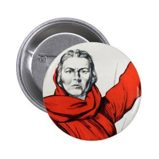 Propaganda del comunismo de Rusia de la madre Pin Redondo De 2 Pulgadas