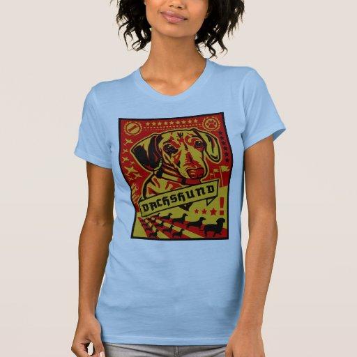 Propaganda del Dachshund Camisetas