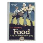 Propaganda del granjero de la comida del vintage comunicado personal