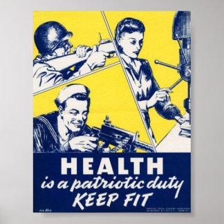 Propaganda del vintage WW2 Impresiones