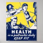 Propaganda del vintage WW2 Póster