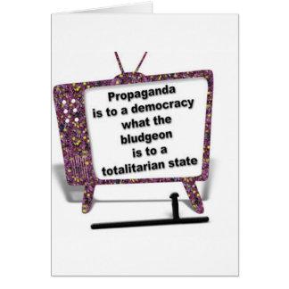 Propaganda Greeting Card