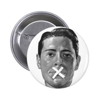 """Propaganda 'labios flojos """" del vintage del kitsch pin redondo 5 cm"""