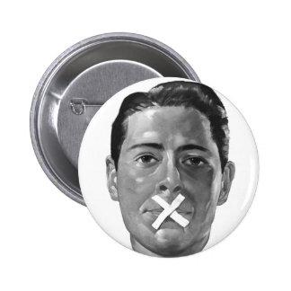 """Propaganda 'labios flojos """" del vintage del kitsch pin redondo de 2 pulgadas"""