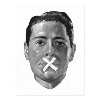 """Propaganda 'labios flojos """" del vintage del kitsch postal"""