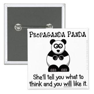 Propaganda Panda will tell you what to think Pinback Button