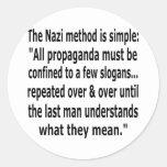 propaganda pegatina redonda