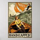 Propaganda perjudicada del sufragio del vintage posters