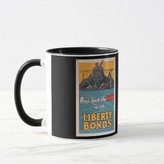 "Propaganda Poster ""Beat Back the Hun"" WWI Mug"