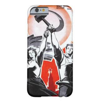 Propaganda rusa del vintage funda de iPhone 6 barely there