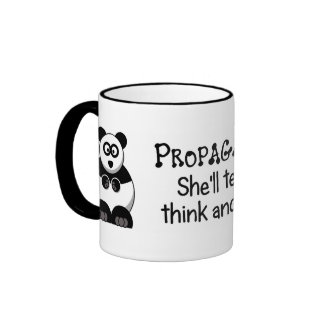 Propaganda will let you know what to think ringer mug