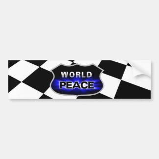 Propagando paz de mundo diseña a la pegatina para