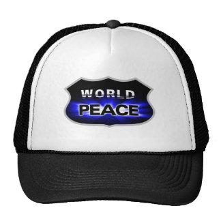 Propagando paz de mundo diseña el gorra
