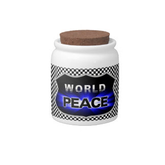 Propagating World Peace Design Candy Jar Candy Dish