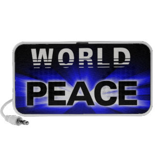 Propagating World Peace Design Doodle Travelling Speakers