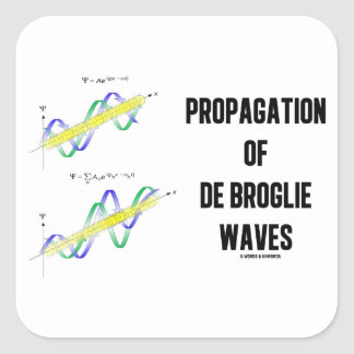 Propagation Of de Broglie Waves (Physics) Sticker