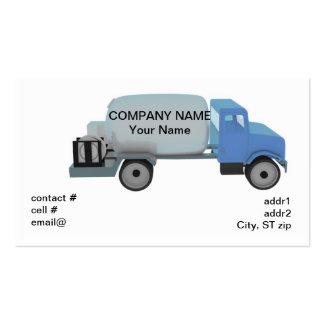 Propane distribution truck business card