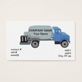 Propane distribution truck business card