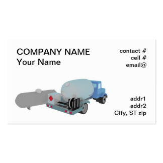 propane tank and truck business card