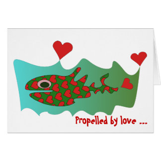 Propelled by love card