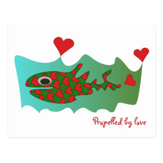 Propelled by love postcard