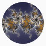 Propelleflora - Swirl Fractal Classic Round Sticker