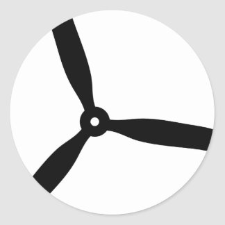 propeller airscrew round stickers