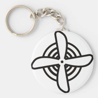 Propeller Basic Round Button Keychain