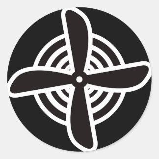 Propeller Classic Round Sticker