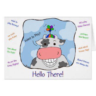 Propeller Cow Greeting Card