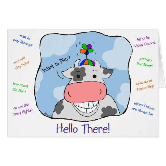 Propeller Cow Card