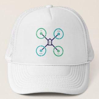 Propeller Diagram Quad X Trucker Hat