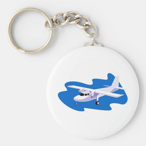 propeller plane airplane aircraft flying Cessna Keychain