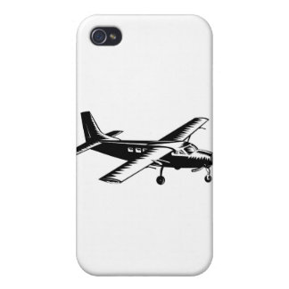 propeller plane airplane aircraft flying flight case for iPhone 4