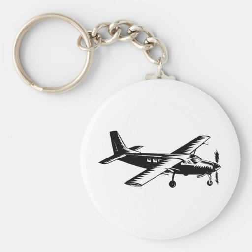 propeller plane airplane aircraft flying flight keychains
