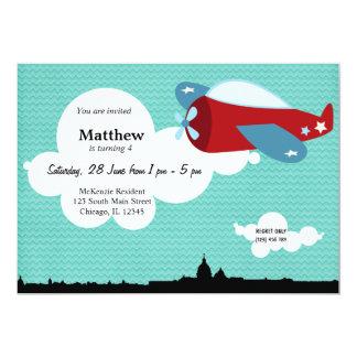 Propellor Plane Birthday theme (Blue) Card