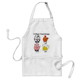 Proper American Diet: Four Major Food Groups 1 Apron