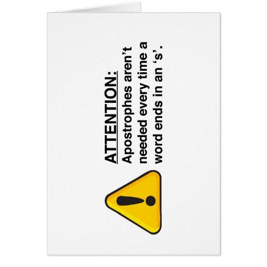 Proper Apostrophe Usage Card