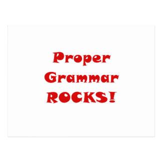 Proper Grammar Rocks Postcard