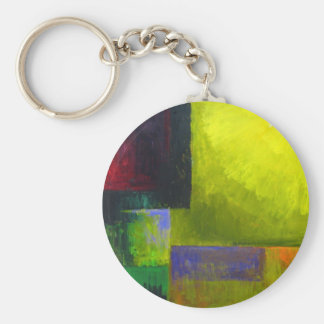 Proper Light Source (abstract light expressionism) Basic Round Button Keychain