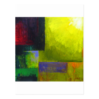 Proper Light Source (abstract light expressionism) Postcard