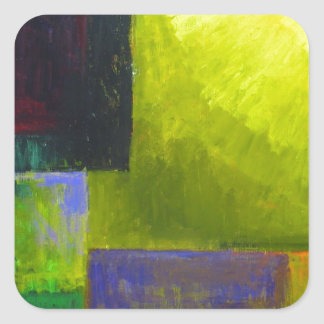 Proper Light Source (abstract light expressionism) Square Sticker