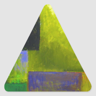 Proper Light Source (abstract light expressionism) Triangle Sticker