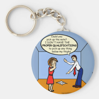 Proper Qualifications ~ hilarious funny comics Basic Round Button Keychain