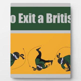 Proper Way to Exit a British Sports Car Plaque
