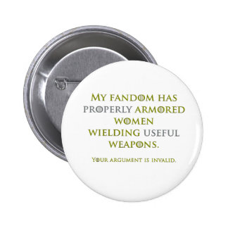Properly Armored Women 2 Inch Round Button